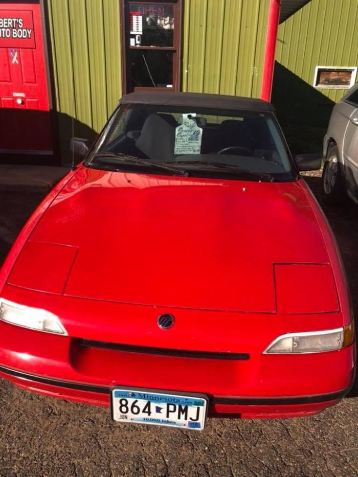 1991 Mercury Capri Front